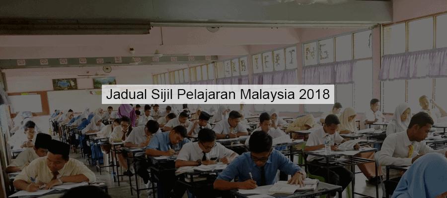 jadual spm 2018