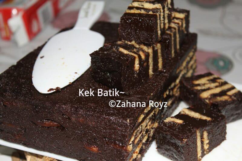 resepi kek batik lembut sedap  enak terbaru Resepi Kek Oreo Coklat Kukus Enak dan Mudah