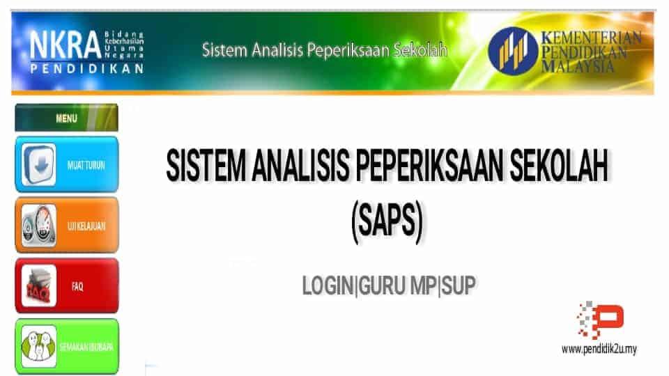 Cara Semakan Sistem Analisis Peperiksaan Sekolah (SAPS)