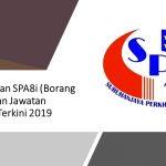 Permohonan SPA8i (Borang Pendaftaran Jawatan Kerajaan) Terkini 2019