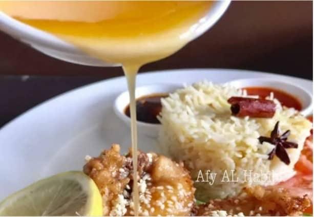 nasi ayam sos lemon