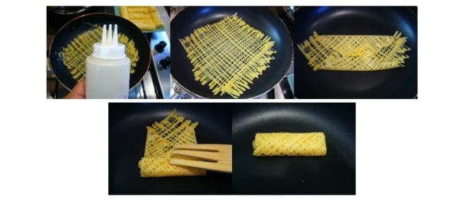 cara lipat roti jala