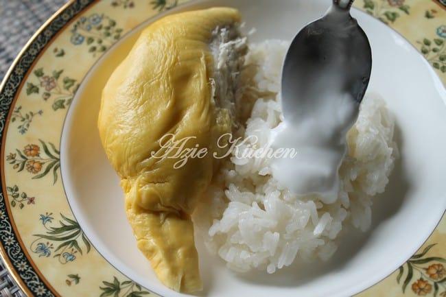 resepi pulut durian thailand azie kitchen