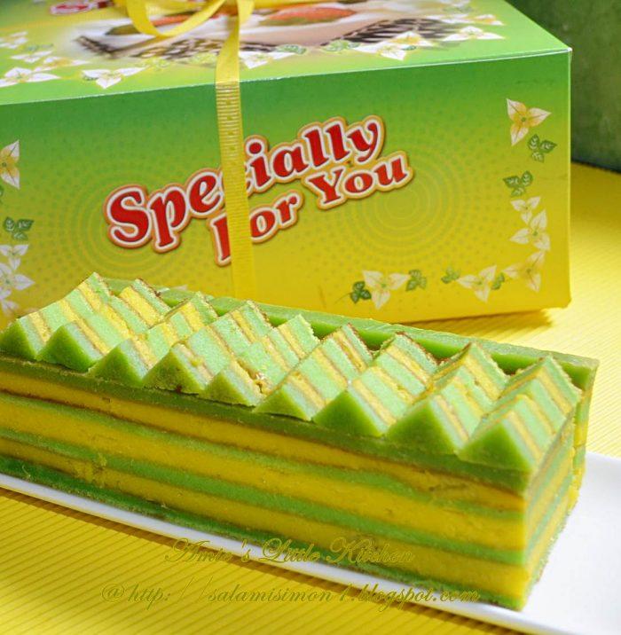 resepi kek lapis cheese durian