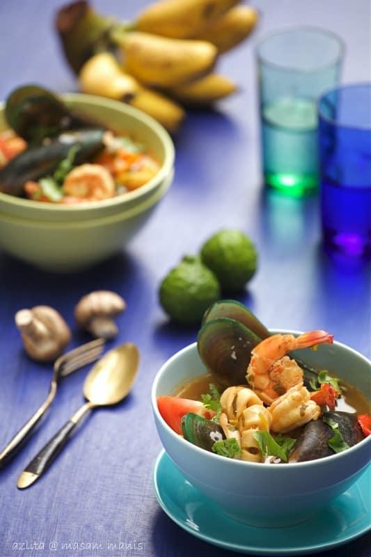 Thai Style Tom Yum Seafood Azlita Aziz