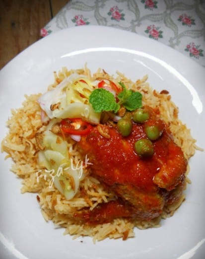 Nasi Tomato Ayam Masak Merah Hafizah Yahya
